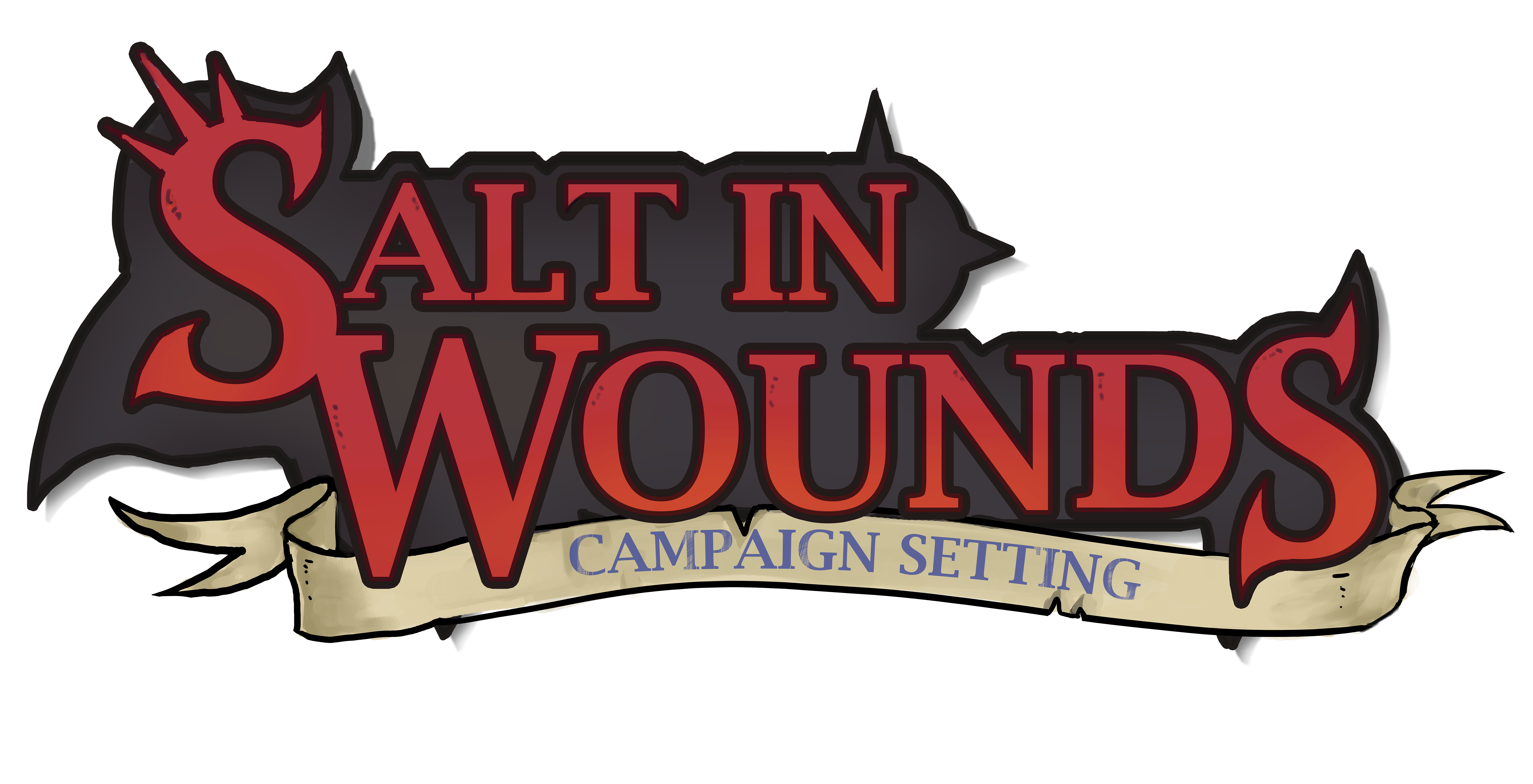 Salt in wounds setting. D20 transparent evil vector freeuse library