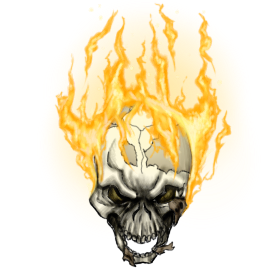 D20 transparent flaming. Token art behaded