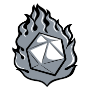 D20 transparent flaming. D by spreadshirt