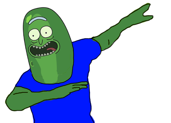 Dab meme png. Pickle rick dabbing know