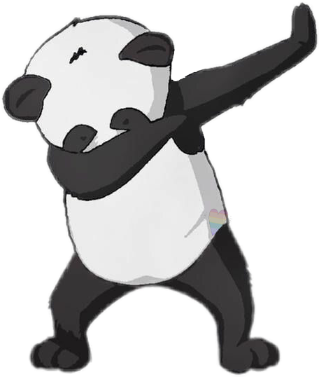 Panda dabbing png. Dab remixit sticker by