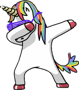 Unicorn sticker by ona. Dab png clip art library stock