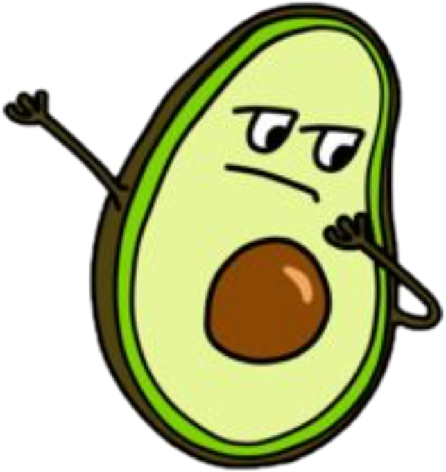 Avocado cool nicefreetoedit sticker. Dab vector cartoon person clip art freeuse library