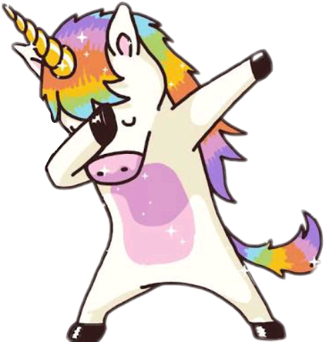 Dab vector cartoon character. Unicorn unicornio magico bonito