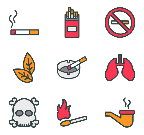cigarettes vector lighted