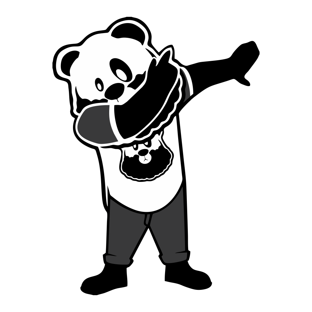 Dab vector panda. Custom dub sleeve shirt