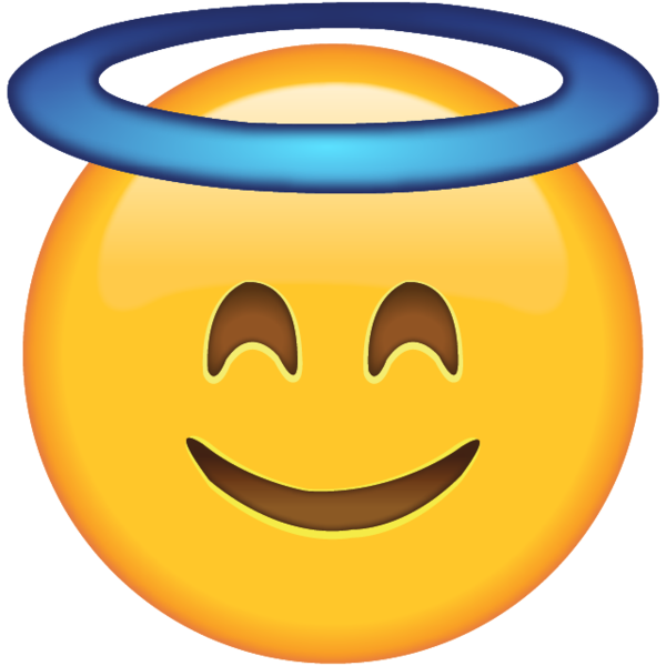 Dab vector smiley face. Smiling with halo let
