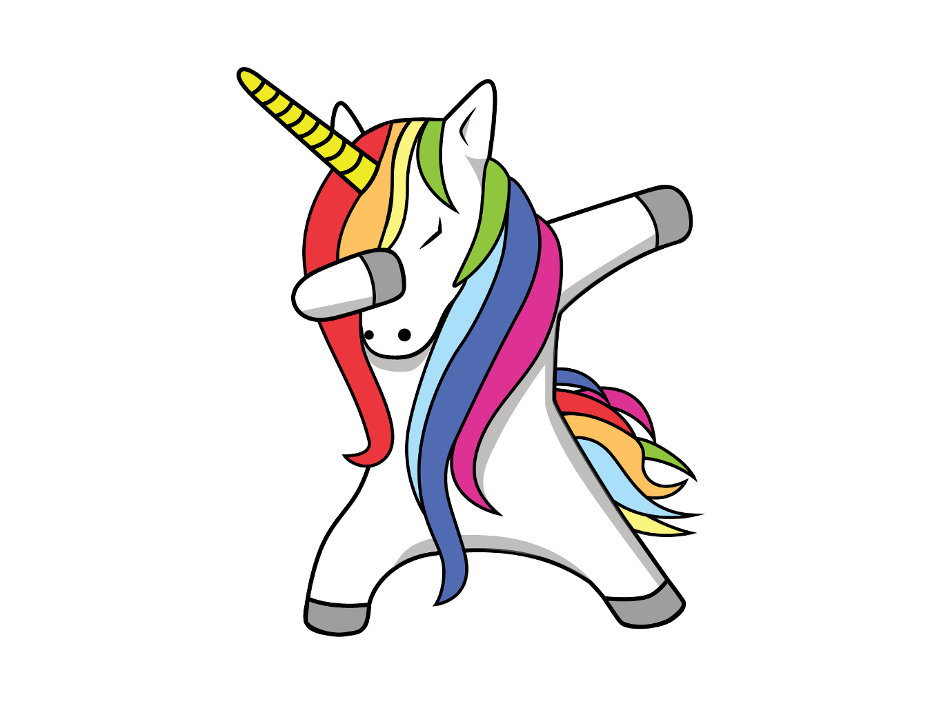 Dabbing unicorn png. Sticker by jackie g