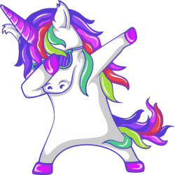 Dabbing unicorn png. Custom t shirt by