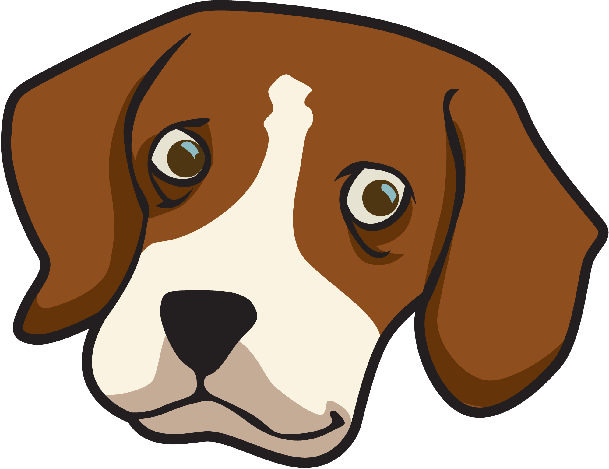 Face transparent free for. Dachshund clipart brown dachshund graphic freeuse download