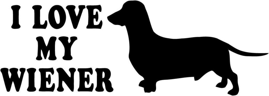 Dachshund clipart dachshund love. I my wiener with