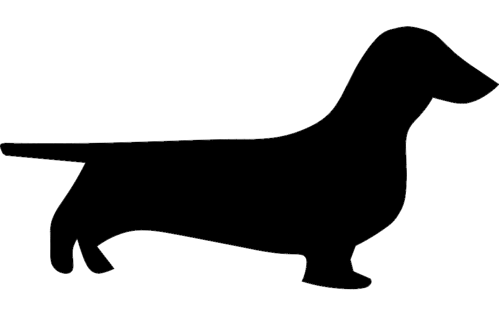 Dachshund clipart dxf. File free download axis