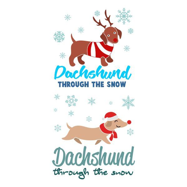 Through the snow cuttable. Dachshund clipart dxf banner transparent download