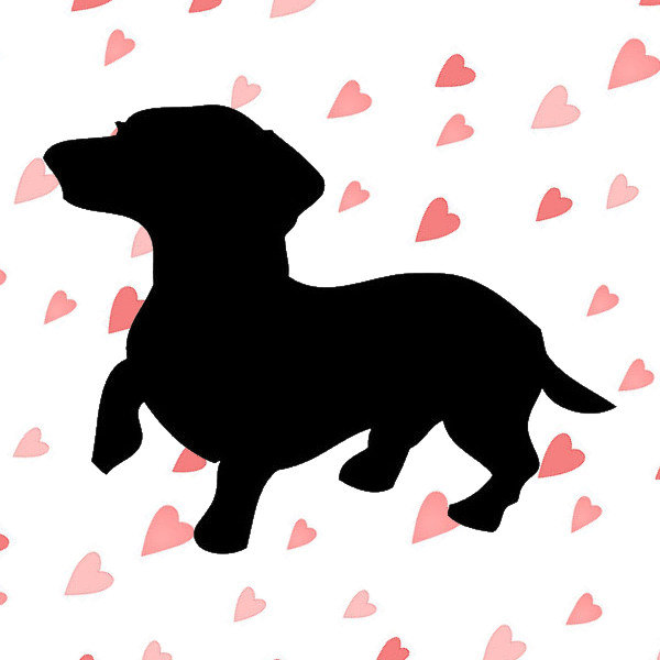Dachshund clipart dxf. Svg cutting file for