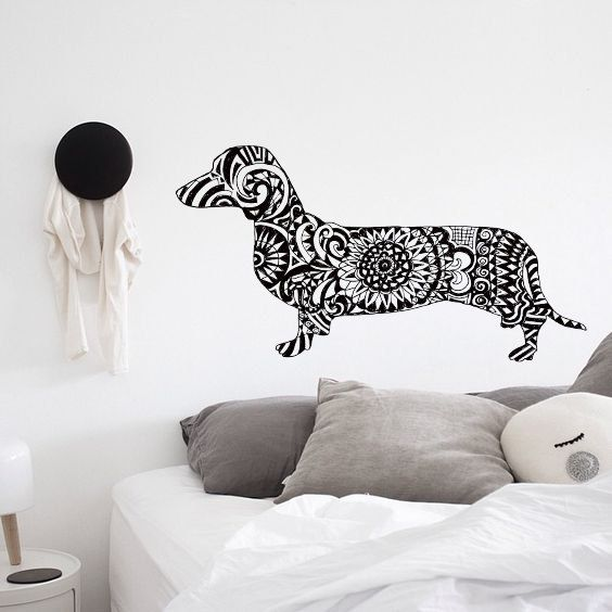 Zentangle clip art cut. Dachshund clipart file image library library