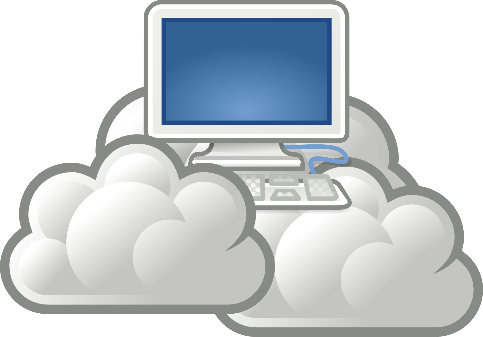 Dad at computer png. Even my understands cloud