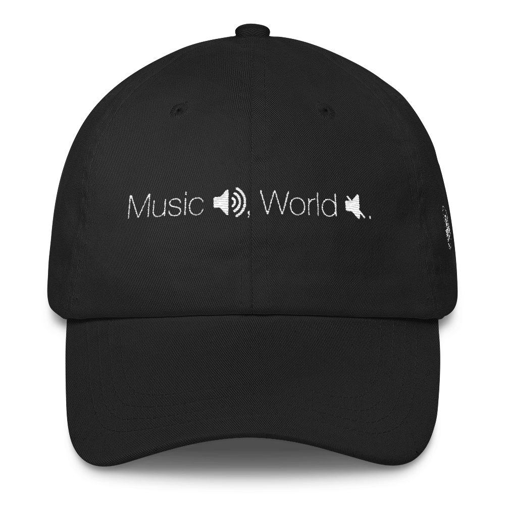 Dad cap png. Music on world off