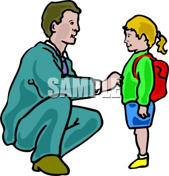 Seeing his daughter off. Dad clipart picture freeuse stock