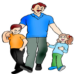 Fathers day and kids. Dad clipart two vector download