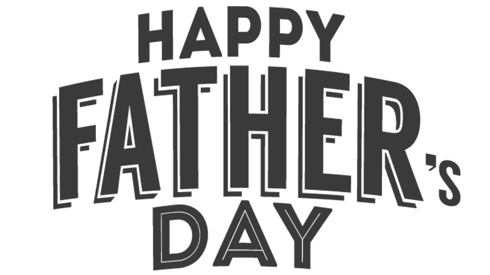 Dad day png. Happy fathers grey text