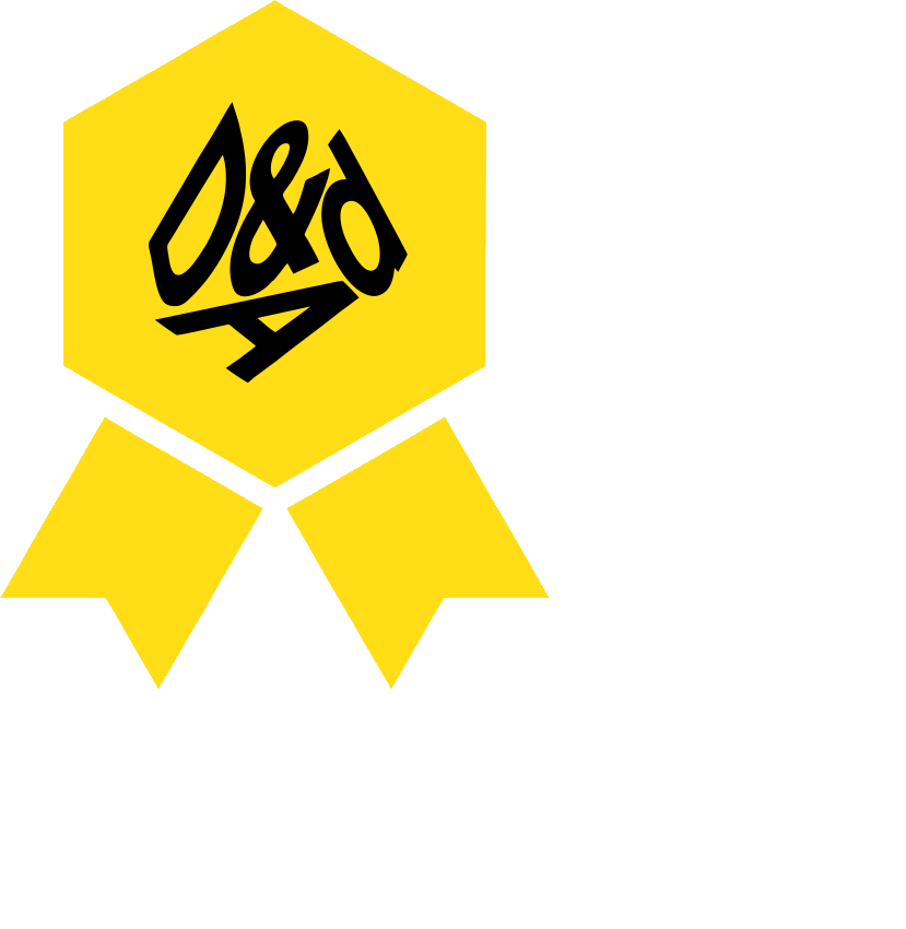 D&ad logo png. The typographic circle design