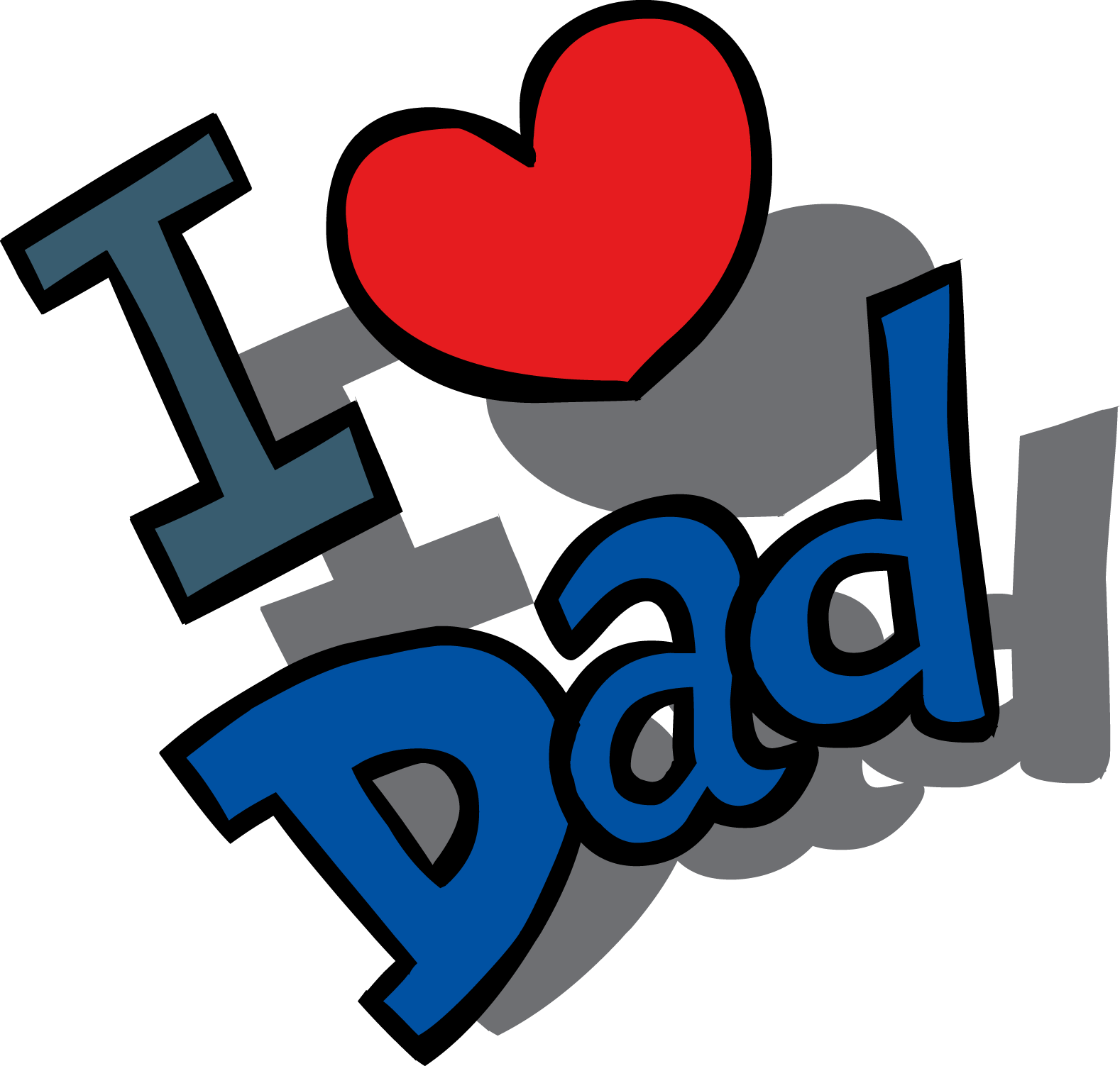 Happy Fathers Day Love Dad transparent PNG