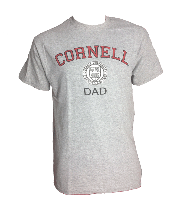 Dad shirt png. Cornell heather gray tee