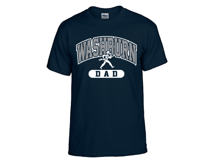 Dad shirt png. Washburn university tee navy