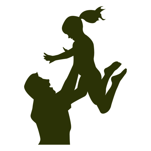 Dad vector png. Playing with daughter transparent