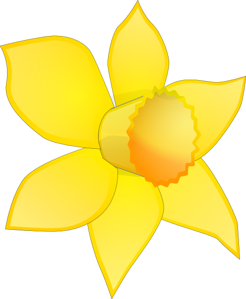 Daffodil clipart printable. Image stripped clip art