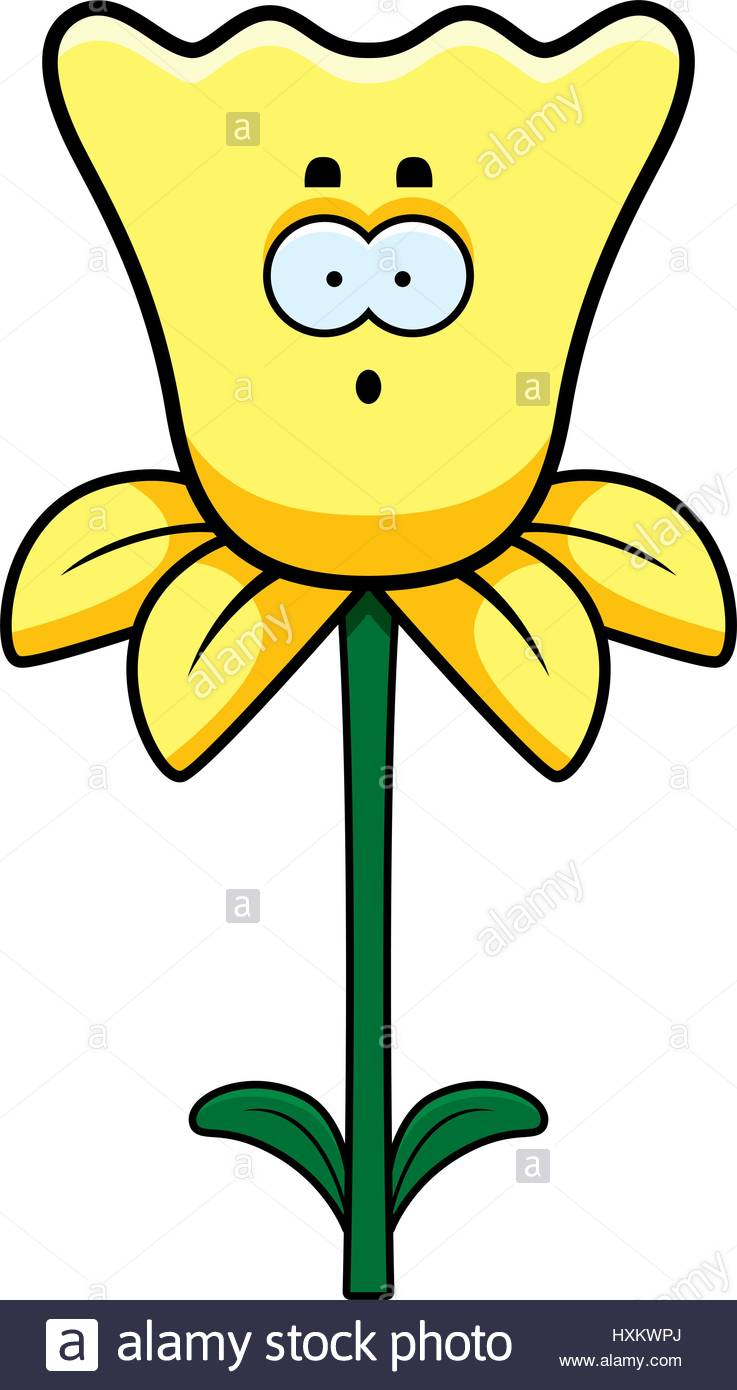 A cartoon of looking. Daffodil clipart illustration jpg royalty free library