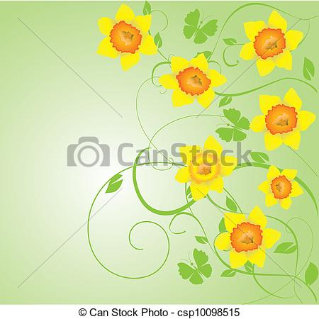 Daffodils vector frame clip. Daffodil clipart illustration clipart transparent