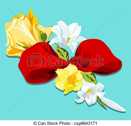 Daffodil clipart lily. Floral bouquet of yellow vector free library