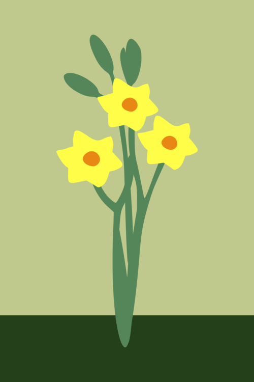 Bunch flowered floral design. Daffodil clipart illustration png transparent