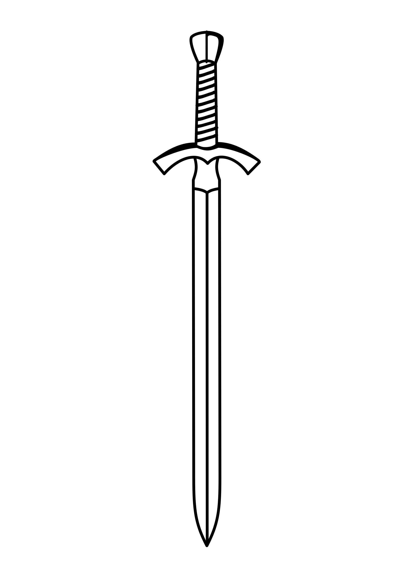 Clipart sword pencil in. Transparent dagger black and white vector royalty free