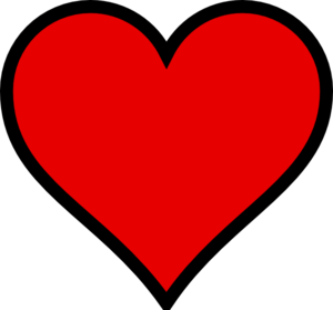 Red heart clipart png. With transparent background