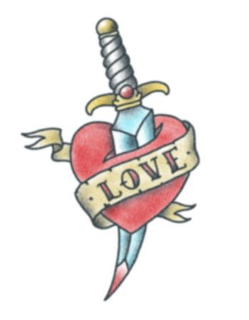 Dagger clipart heart. Love with pinterest tattoo