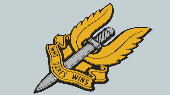 Sas winged d warehouse. Dagger clipart special force picture black and white