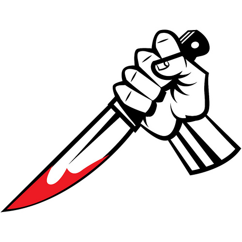 Dagger clipart stab. Bloody knife vector flickr