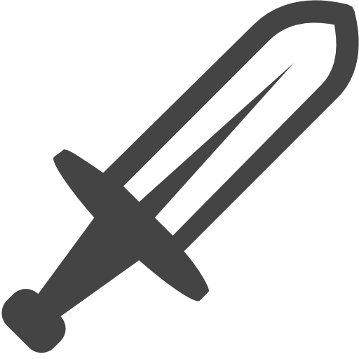 Dagger icon png. Steel medieval knight weapon