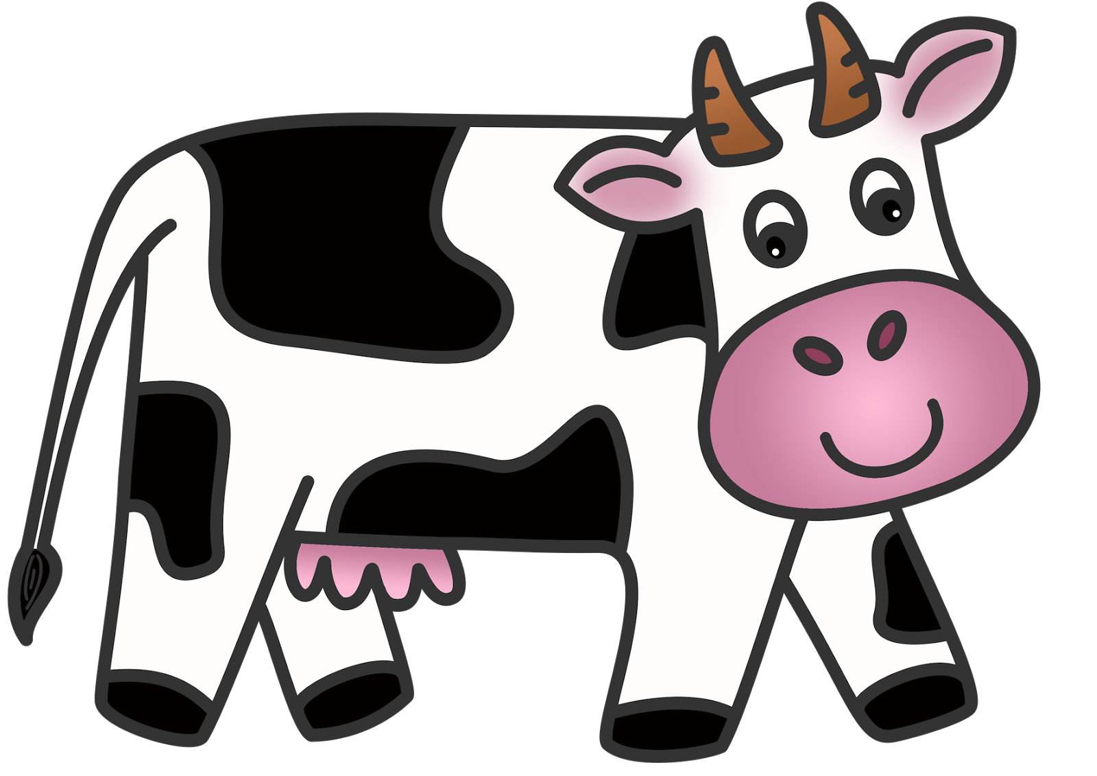 Dairy clipart. Animal cow cliparts and