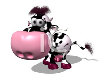 Dairy clipart. Spotted d cow royalty image download