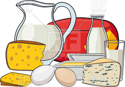 Dairy clipart. Products jug of milk banner library stock