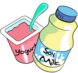 Yogurt pencil and in. Dairy clipart yogart banner free