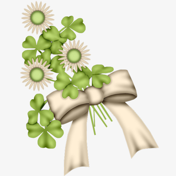 Daisies clipart bow. Daisy clover green png