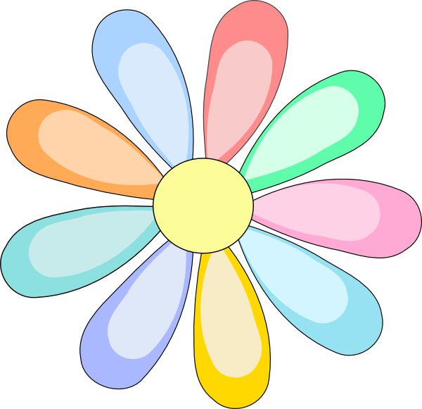 Daisies clipart multicolor. Flower clip art at