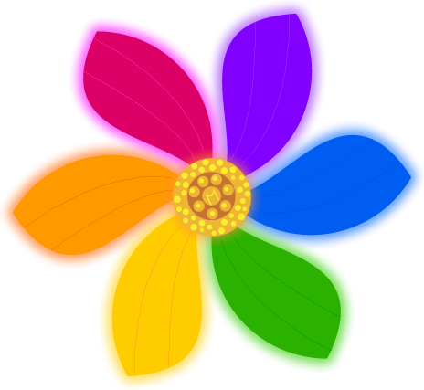 Daisies clipart multicolor. Forgetmenot rainbow flowers