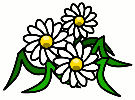Summer flowers clip art. Daisies clipart scene graphic library download
