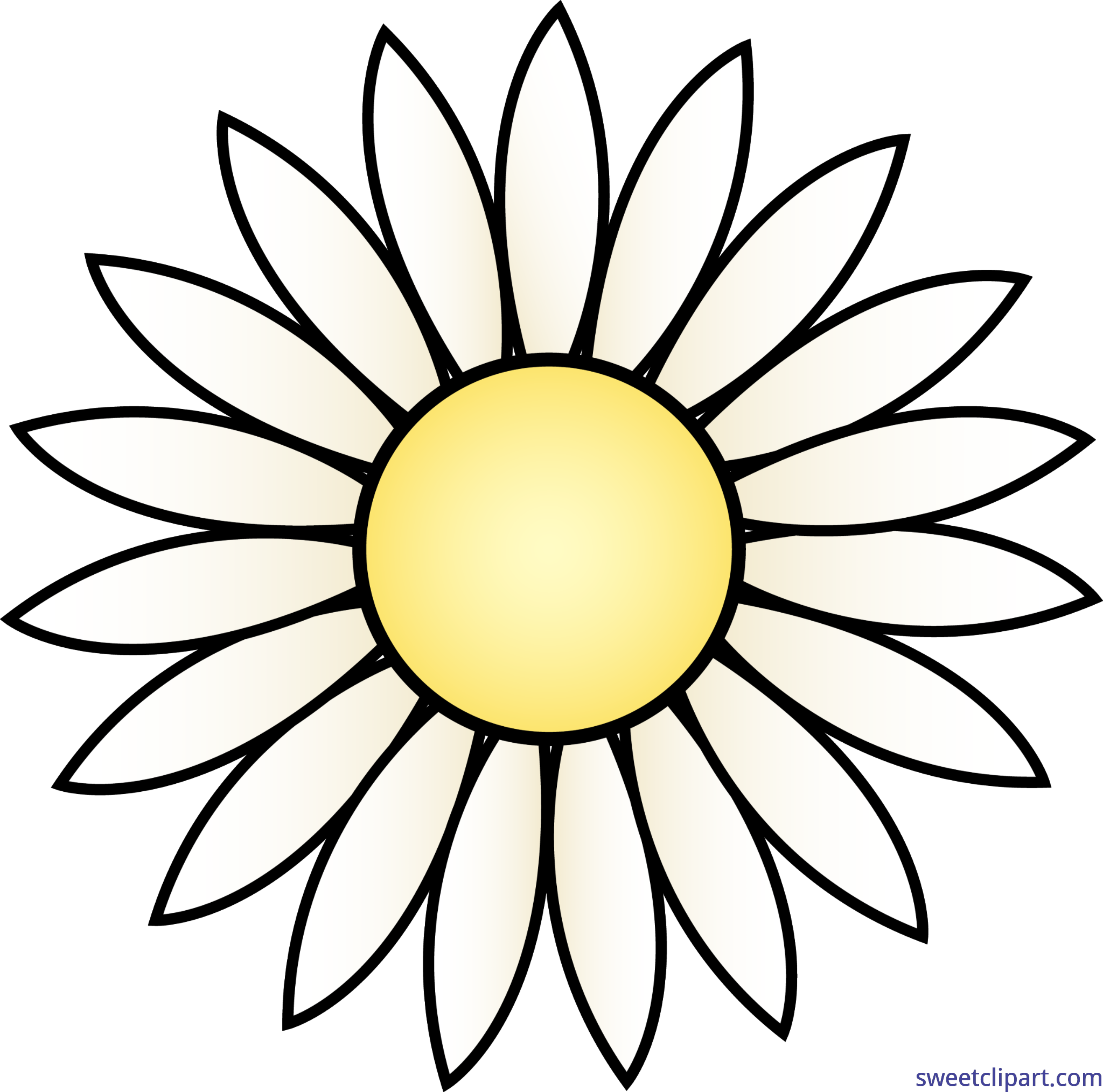 Nature flowers daisy clip. Daisies clipart scene vector black and white download