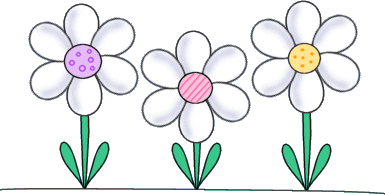 Flower clip art images. Daisies clipart scene graphic free